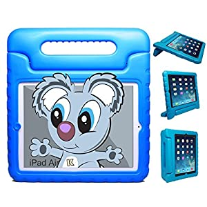 KAYSCASE KidBox Protective Cover Case with Stand and Handle for Apple iPad Air 5th Generation 2013 (Blue)