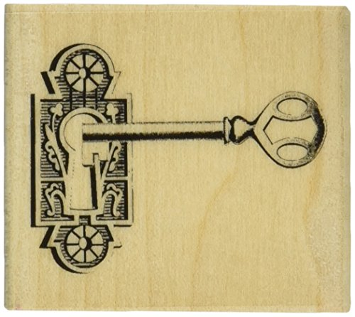 Hampton Art Graphi 45 Romantique Key Rubber Stamp