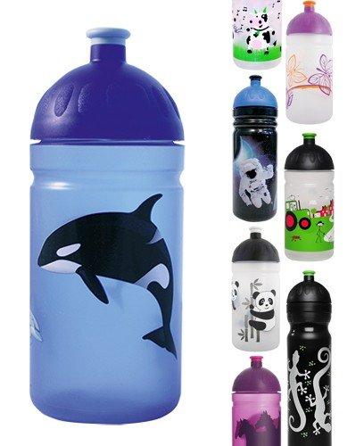 ISYbe-Trinkflasche-500ml-Killerwal-blau-transparent-schadstofffrei-splmaschinengeeignet-auslaufsicher