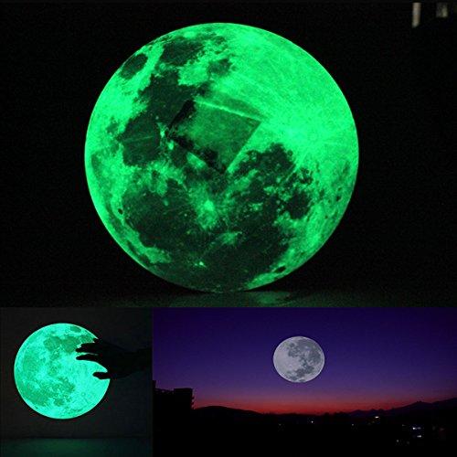 [Free Shipping] 30cm Large Moon Wall Sticker Removable Glow In The Dark Sticker // Etiqueta de la pared de 30 cm luna grande resplandor extraíble en la etiqueta adhesiva oscura