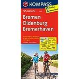 Bremen - Oldenburg - Bremerhaven: Fahrradkarte. GPS-genau. 1:70000 (KOMPASS-Fahrradkarten Deutschland)