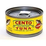 Cento - Italian Solid Light Tuna in Pure Olive Oil, (6) - 3 oz Cans