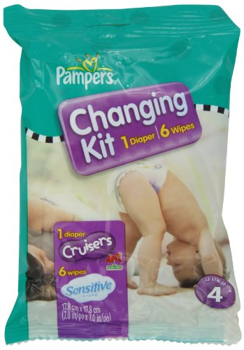 Pampers Cruisers Changing Kit, Size 4, Unscented, (Pack of 10) - 1
