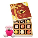 Valentine Chocholik Premium Gifts - Great Collection Of White Chocolates And Truffles With Teddy