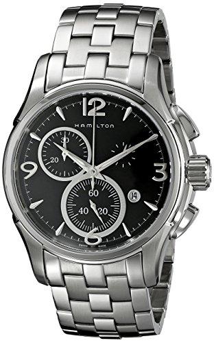 Hamilton H32715131 - Reloj analógico automático para hombre, correa de acero inoxidable, color plateado