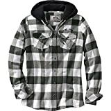 Legendary Whitetails Women's Grand Wood Plaid Hoodie Carbon Plaid Large