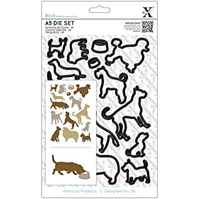 docrafts Xcut A5 Die Set-Dogs