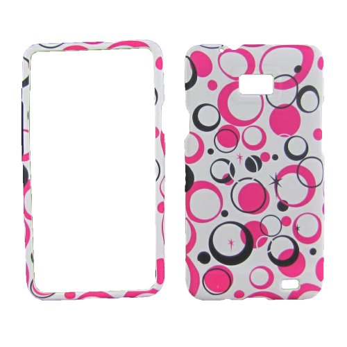 White Pink Pattern For Samsung Galaxy SII Sgh-s959g-(straight Talk / At&t)rub... (Straight Talk Samsung Galaxy Sii compare prices)