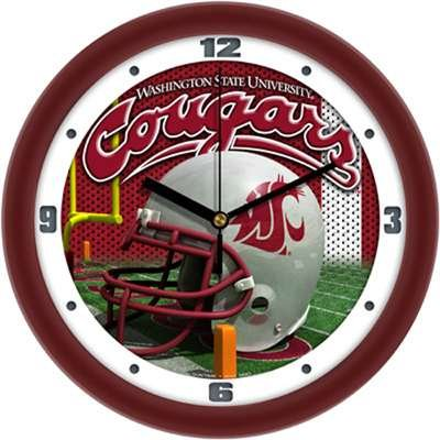 Washington State Cougars NCAA Football Helmet Wall Clock