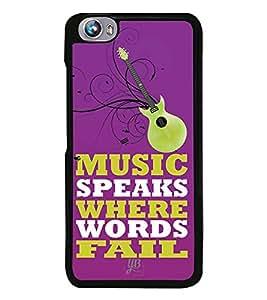 YuBingo Music Speaks Where Words Fail Designer Mobile Case Back Cover for Micromax Fire 4