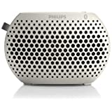 Mini Altavoz Philips Sbt10 con Bluetooth, color blanco.