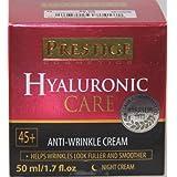 Prestice Hyaluronic Care Anti-Wrinkle Cream Night Cream 45+ 1.7 Fl Oz.