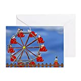 CafePress - Ferris Wheel Note Cards (Pk Of 10) - Greeting Card (10-pack), Note Card with Blank Inside, Birthday Card Glossy