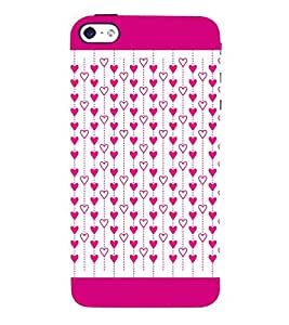 Hanging Hearts 3D Hard Polycarbonate Designer Back Case Cover for Apple iPhone 5S
