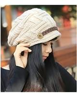 SODIAL(R) BšŠret Femme Chapeau Fille Hiver Chaud Tricotage Crochet Bonnet