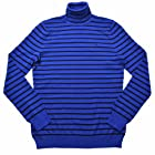 Lauren Ralph Lauren Women's Stripe Turtleneck Sweater M Blue/Black