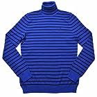 Lauren Ralph Lauren Women's Stripe Turtleneck Sweater M Blue/Black