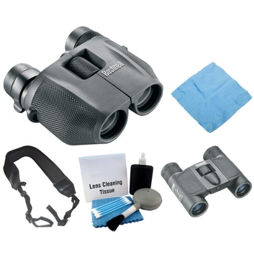 Bushnell 139755 Powerview 7-15X25Mm Binoculars + Bushnell Powerview 8X21Mm Folding Roof Prism Binoculars + Accessory Kit