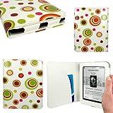 CaseGuru New Kobo Mini Sphere Spotty Fun Pattern Print Case Cover Featuring Document Sleeve & Magnetic Snap Closure/ wallet case for latest kobo mini