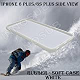 Cracked Screen Prank Custom iPhone 6 PLUS Cases/6S PLUS Cases-White-Rubber,Bundle 3in1 Comes with HD Tempered Glass/Universal Stylus Pen by innosub