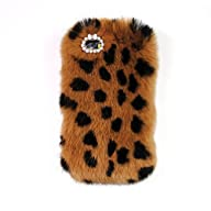 iPhone 6/6s 4.7 Inch Rabbit Fur Hair Case-Aurora® Leopard iPhone 6 Handmade Soft Warm Rabbit Hair…