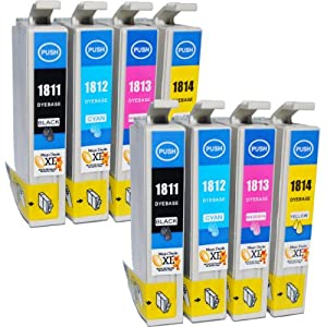 Compatible Epson Expression XP-405 Ink Cartridges 2X Black 2X Cyan 2X Magenta 2X Yellow (8-Pack)