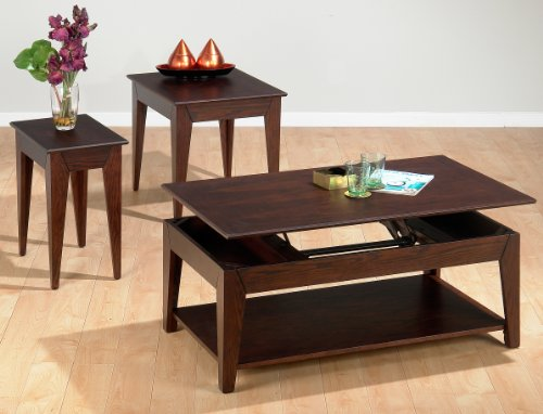 Buy low price jofran roland 109 3 pack lift top coffee table set with book match inlay Jofran lift top coffee table