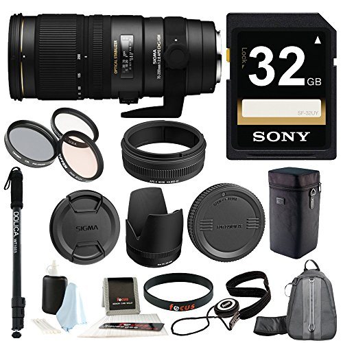 Sigma-70-200mm-f28-APO-EX-DG-HSM-OS-FLD-Large-Aperture-Telephoto-Zoom-Lens-for-Canon-Digital-DSLR-Camera-with-Tiffen-77mm-Photo-Essentials-Filter-Kit-and-Deluxe-Accessory-Kit