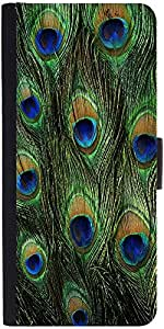Snoogg Feather Pattern Designer Protective Flip Case Cover For Asus Zenfone 5...