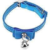 Alcoa Prime Adjustable Pet Dog & Cat Collar Kitten Velvet Bow Tie Safety Elastic Post 6 Colours Bowtie With Bell...