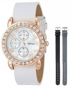 Breda Women's 8173-setB Allison Rhinestone Bezel Interchangeable Band Watch Set