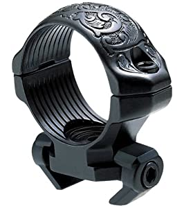 Millett Engraved Steel Angle-Loc Windage Adjustable Ring, 1-Inch - Low