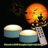Candle Choice Set of 2 Remote Controlled Plastic LED Pumpkin Light (Small)