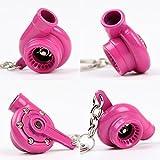 HAMIST Spinning Turbo Keychain Keyring Turbocharger Turbine Key Chain Drift Racing Pink