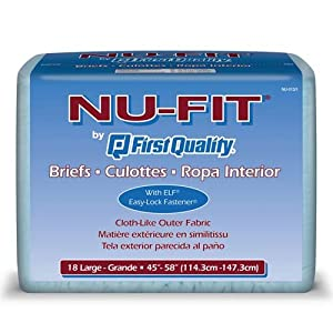 Nu-Fit Adult Diapers - Large 72/cs by First Quality