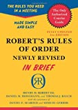 Robert's Rules of Order Newly Revised In Brief, 2nd edition (Roberts Rules of Order in Brief) (0306820196) by Robert, Henry M. III