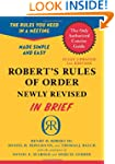 Robert's Rules of Order Newly Revised...