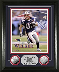 NFL New England Patriots Wes Welker Silver Coin Photo Mint by Highland Mint