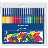 Staedtler 326WP20 Noris Club Fibre Tip Pen in Wallet - 20 Assorted Colours