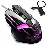 Qisan(TM) Wired Gaming Mouse Black 2000DPI£¨DU 016£©Come With Free Android Micro USB 2.0 Data OTG Cable