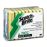 3M Scotch-Brite� Medium-Duty No. 74 Scrub Sponges, Pack Of 10