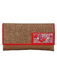 Craftstages Ethnic Designer Jute Sling Bag For Women (Material: Jute, Colour: Red) - B00VREZ6QQ