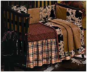 HiEnd Accents Cowhide Crib Set
