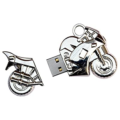 16 GB Pen Drive Bike Shape Silver Color USB 2.0 Pen Drive MT1012