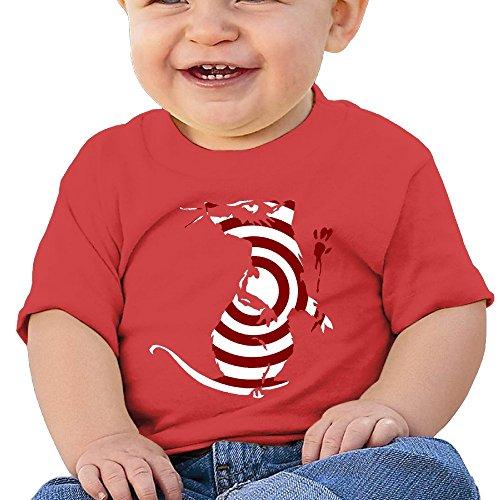 Kim Lennon Stripes Mouse Custom Girl Comfortable T-shirt Red Size 12 Months