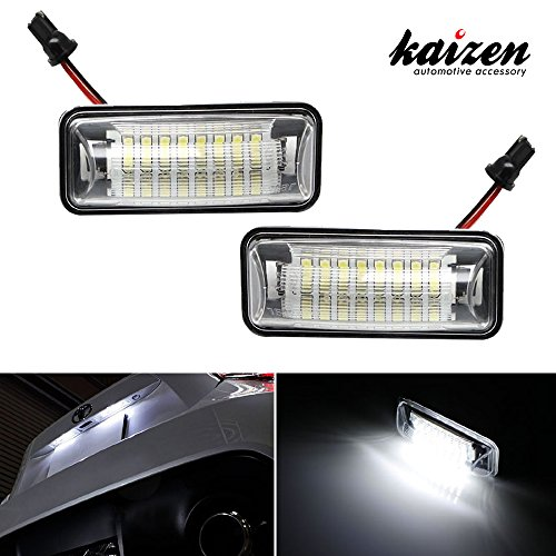 Kaizen 2 Pcs OEM Fit Super Bright LED License Plate Light Lamps 18 Pieces of Premium Quality 1210-SMD LED Chipsets In It For Scion Fr-S, Subaru BRZ, Impreza, Legacy CAN-bus Error Free Color Temperature 6000K Color Xenon White (Led Stock Ticket compare prices)
