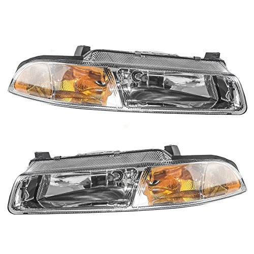 Driver and Passenger Headlights Headlamps Replacement for Dodge Chrysler Plymouth 4630873AB 4630872AB (Plymouth Breeze Headlight compare prices)