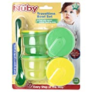 Nuby Micro Storage Bowl With Feeding Spoon - Colours May Vary