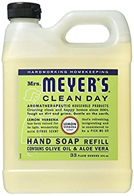 Mrs. Meyer's - Clean Day Liquid Hand Soap Refill Geranium,33 oz,Honeysuckle.Honeysuckle