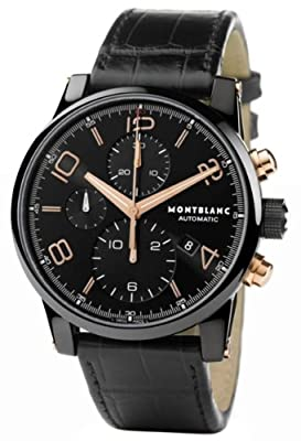 Montblanc Timewalker Black Steel Chronograph Mens Watch 105805